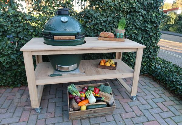 BBQ tafel model 4 eikenhout