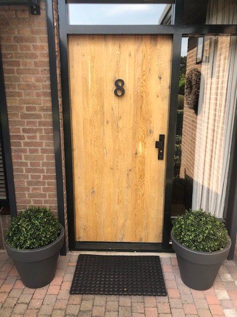 Eikenhouten Stompe deur